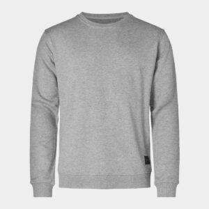 Grå bambus sweatshirt til mænd fra Resteröds (Størrelse: XX Large)