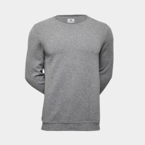Grå crewneck bambus sweatshirt til mænd fra JBS of Denmark (Størrelse: X Large)