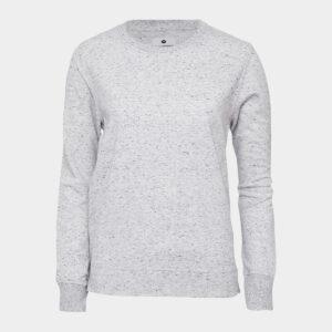 Lysegrå crewneck bambus sweatshirt til dame fra JBS of Denmark (Størrelse: Large)