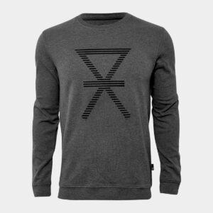 Mørkegrå bambus sweatshirt med print til mænd fra JBS of Denmark (Størrelse: XX Large)