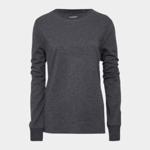Mørkegrå crewneck bambus sweatshirt til dame fra JBS of Denmark (Størrelse: Large)