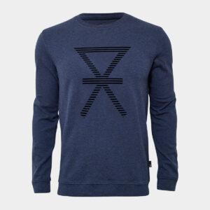 Navy bambus sweatshirt med print til mænd fra JBS of Denmark (Størrelse: X Large)