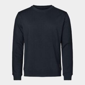 Navy bambus sweatshirt til mænd fra Resteröds (Størrelse: X Large)