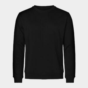 Sort bambus sweatshirt til mænd fra Resteröds (Størrelse: X Large)