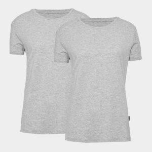 2 grå bambus t-shirts til dame fra JBS of Denmark