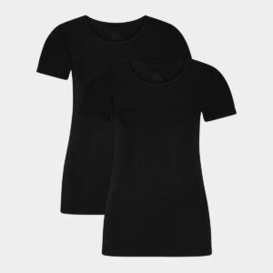 2 sorte bambus t-shirts r-neck til dame fra Bamboo Basics (Størrelse: Small)