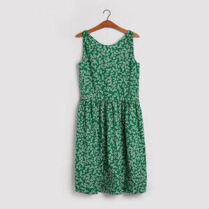 Kjolen - den vendbare i grøn med blomster