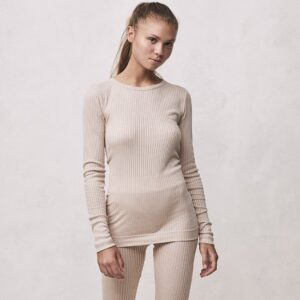 Seamless Basic | Alma Recycled Silk Blouse - Rosie Beige