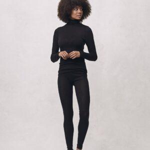 Seamless Basic | Angelina Merino Wool Legging - Black