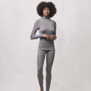 Seamless Basic | Angelina Merino Wool Legging - Grey Melange