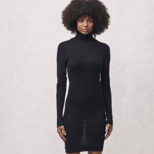 Seamless Basic   Marisol Merino Wool Dress - Black