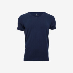 Bambus, T-shirt v-hals, Navy