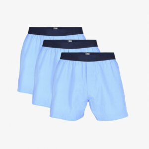 Økologisk bomuld, Boxershorts, 3-pak, Blå 07
