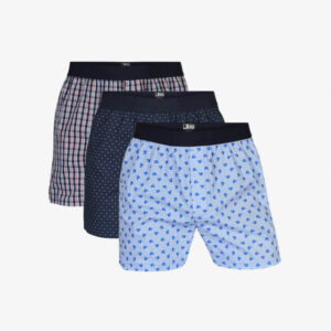 Økologisk bomuld, Boxershorts, 3-pak, Multifarvet Blå Print