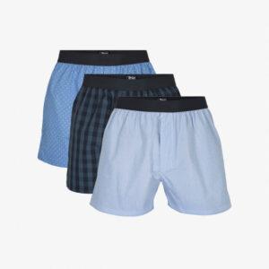 Økologisk bomuld, Boxershorts, 3-pak, Multifarvet Blå/Tern