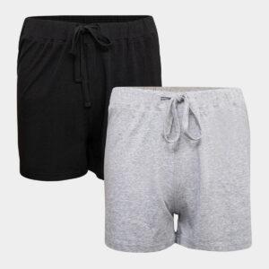 2 pak bambus shorts sort - grå til Dame fra JBS of Denmark