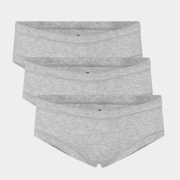 3 par grå bambus hipster trusser til Dame fra JBS of Denmark (Størrelse: X Small)