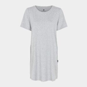 Bambus T-shirt kjole lysegrå til Dame fra JBS of Denmark (Størrelse: X Small)