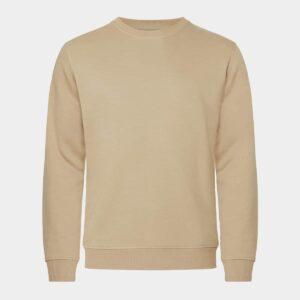 Bambus sweatshirt - sand til Herre fra Resteröds (Størrelse: Small)