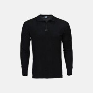 Zip Langærmet | merino uld | sort